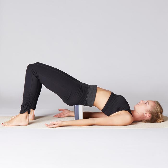 Yogablock Schaumstoff grau/blau groß