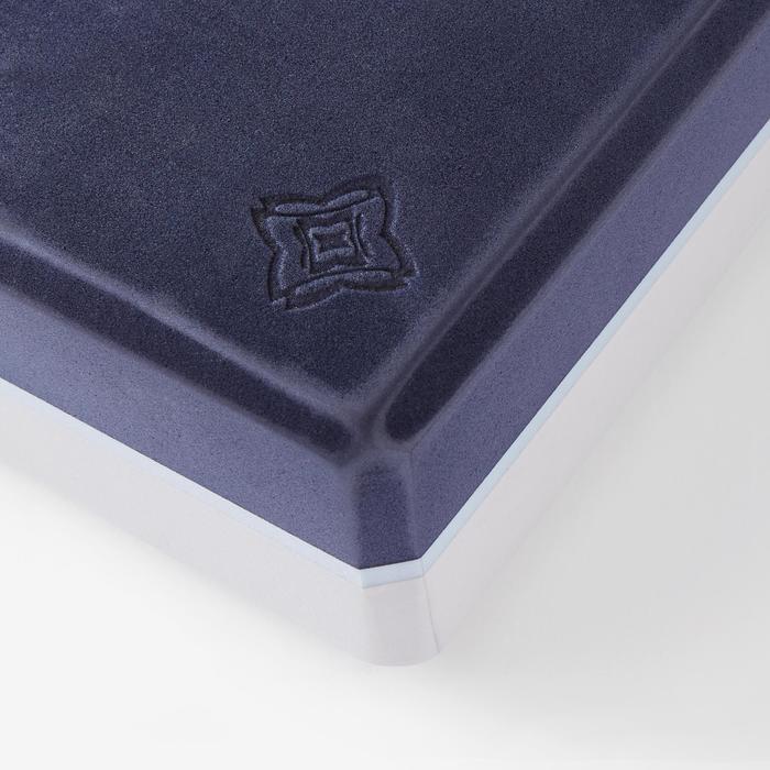 Schuimrubberen yogablok grijs/blauw large