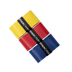 Superior Badminton Overgrip 3-Pack - YELLOW RED BLUE