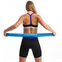 Zwemshort jammer aquafitness dames zwart/blauw