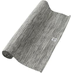 Katoenen matje voor zachte yoga 4 mm gemêleerd grijs