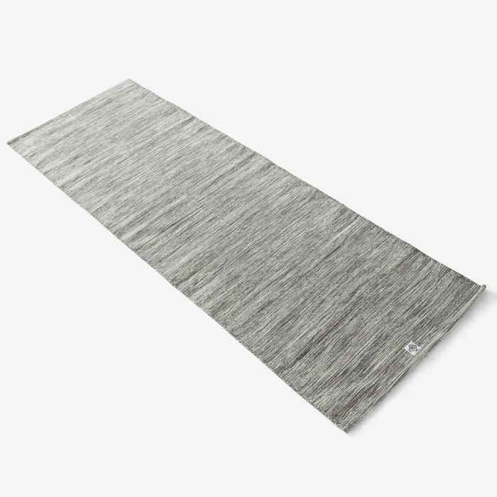 Yogamatte/Mattenauflage für sanftes Yoga Baumwolle 4 mm graumeliert