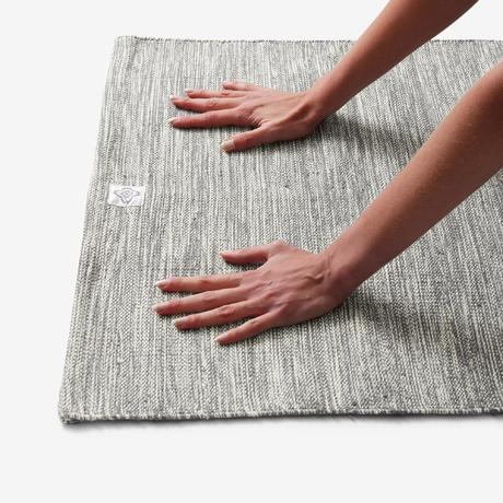 Gentle Yoga Cotton Mat 4 Mm Mottled Grey Domyos By