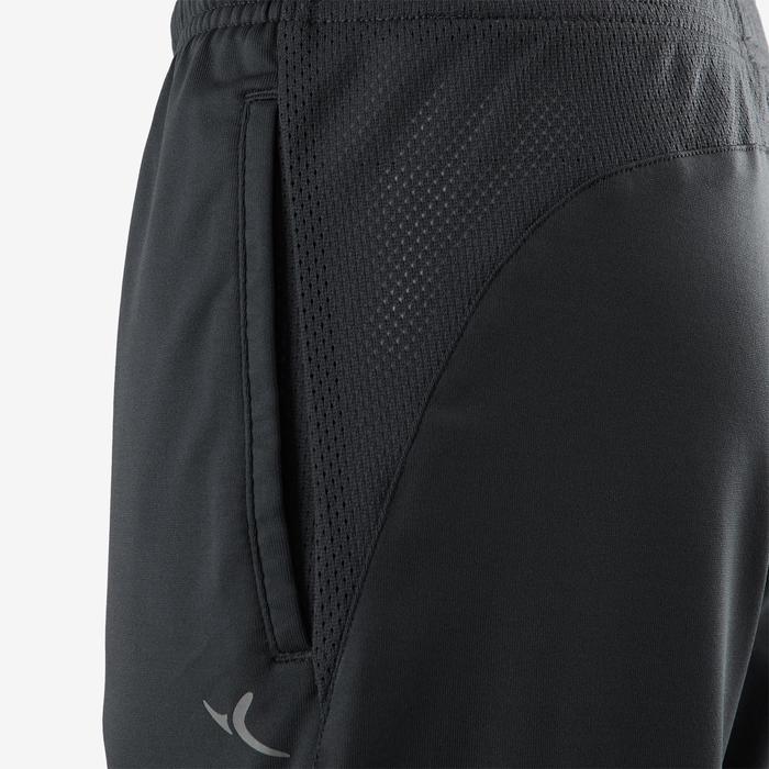 Sporthose kurz Synthetik atmungsaktiv S500 Gym Kinder dunkelgrau