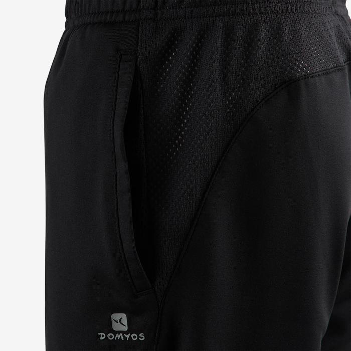 Ademende short voor gym jongens S500 synthetisch zwart
