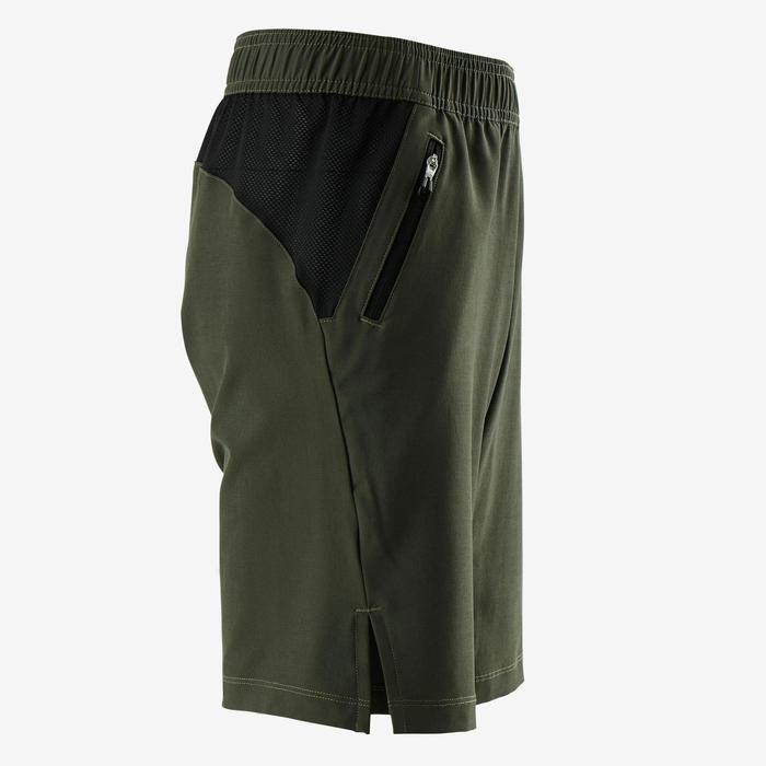 Ademende short W900 jongens GYM KINDEREN kaki