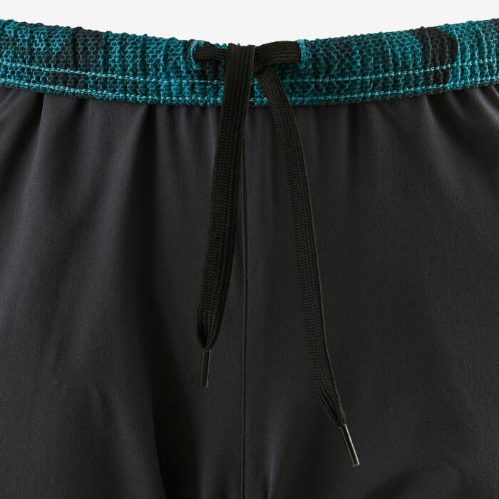 Sporthose kurz atmungsaktiv W900 Gym Kinder blau