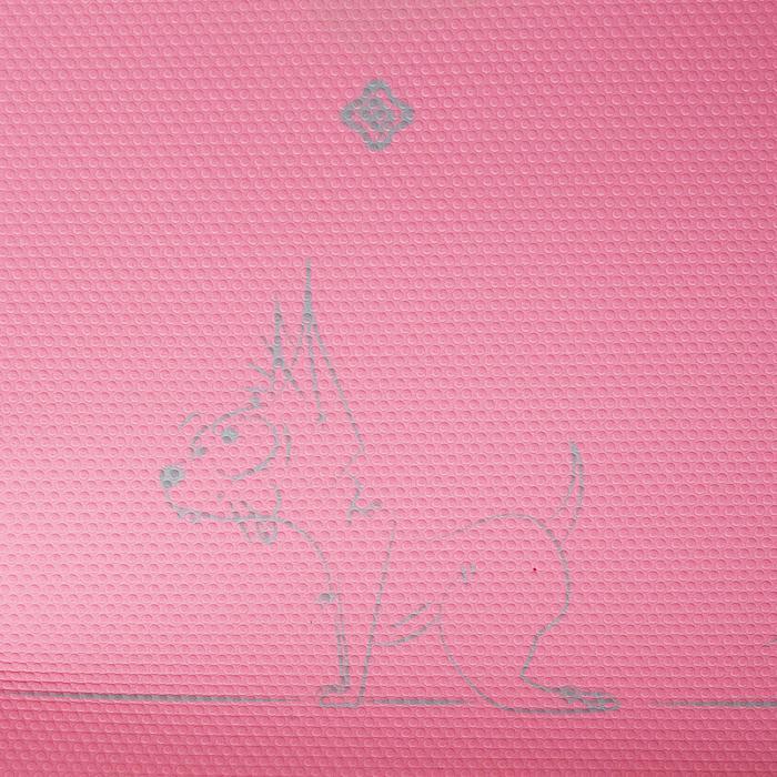 Yogamatte Kinder mit Chihuahua-Aufdruck 5 mm rosa