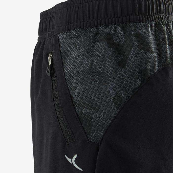 Ademende short voor gym jongens W900 zwart