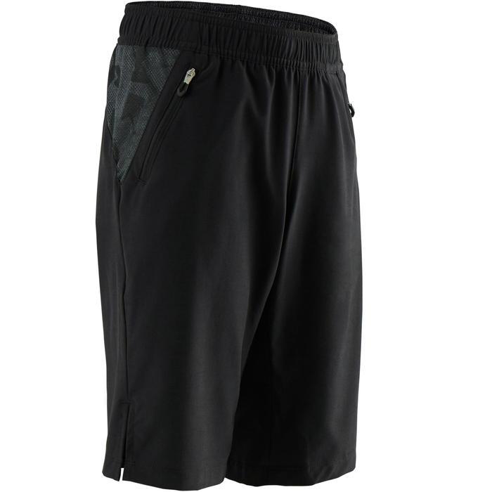 Sporthose kurz atmungsaktiv W900 Gym Kinder schwarz