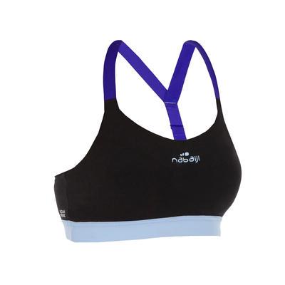 Haut de maillot de bain d'Aquafitness femme Anny noir bleu