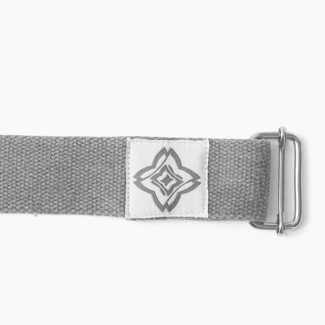 Organic Cotton Yoga Strap - Grey