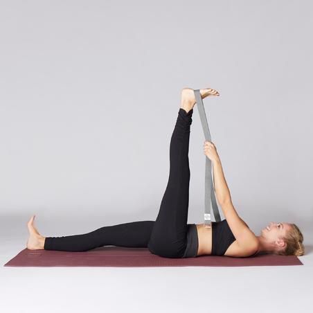 Tali Pengikat Yoga Katun Organik - Abu-abu