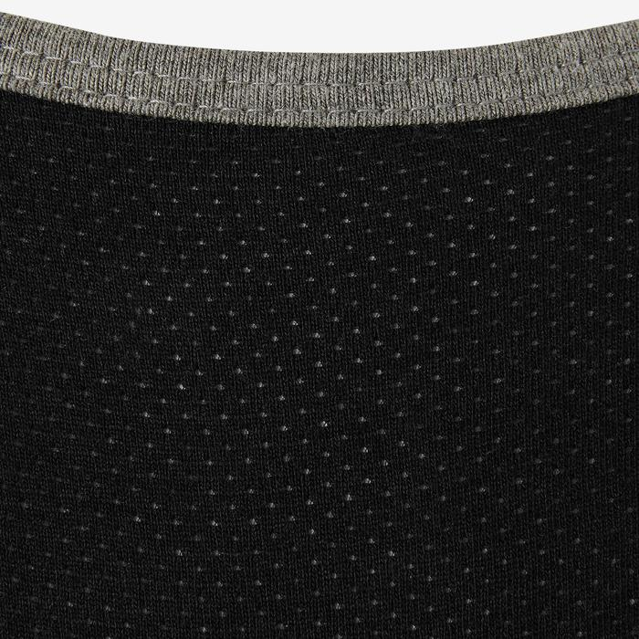 Brassière coton respirante 500 fille GYM ENFANT gris