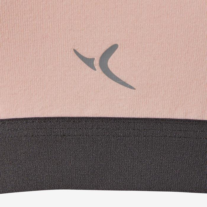 女童健身短版上衣100 - 粉紅色