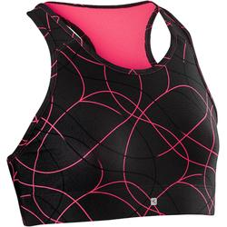 S900 Girls' Gym Breathable Sports Bra - Black AOP