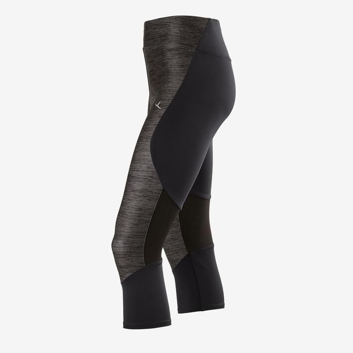 Legging synthetisch ademend S500 meisjes GYM KINDEREN grijs