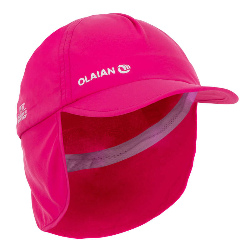 BABY SWIMSUITS & ACCESS. Swimming - Baby UV Protection Cap - Pink NABAIJI - Swimwear
