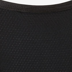 S500 Girls' Gym Breathable Synthetic Tank Top - Black