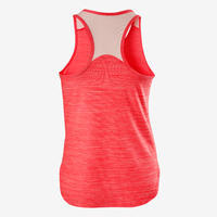 S500 Girls' Gym Breathable Synthetic Tank Top - Pink