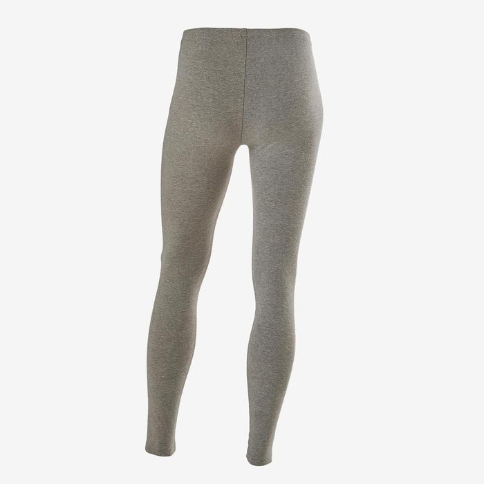 Legging 100 fille GYM ENFANT gris chiné clair imprimé