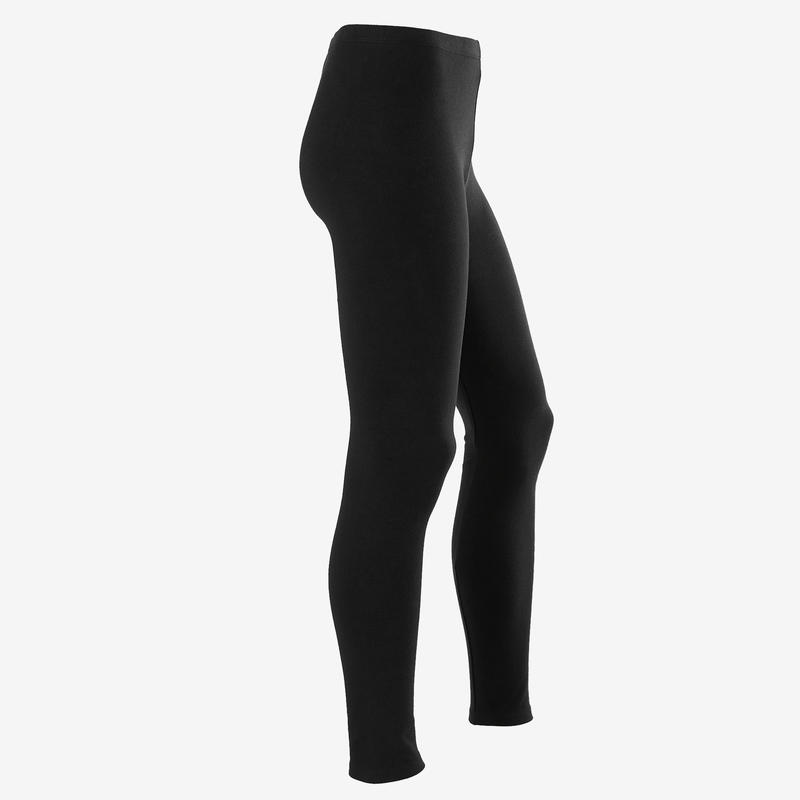 Girls' Gym Leggings 100 - Black Print