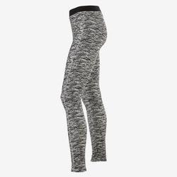 Leggings Baumwolle atmungsaktiv 500 Gym Kinder schwarz mit Print