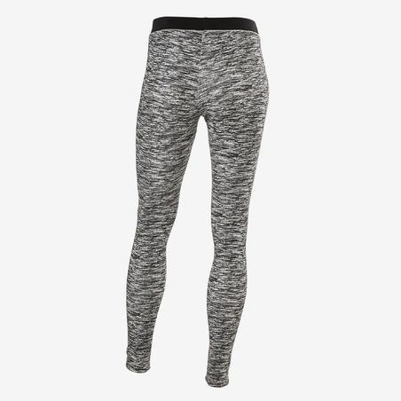 Legging coton respirant gym enfant500 noir impr– Fille