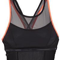 Lena Women's One-Piece Aquafitness Swimsuit - Black Orange