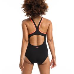 Badeanzug Aquafitness Lena Damen schwarz/orange