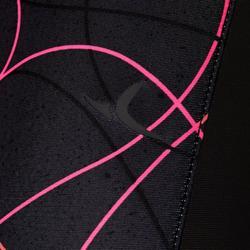 Ademende legging S900 meisjes GYM KINDEREN zwart AOP