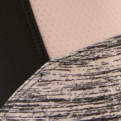Legging synthétique respirant S500 fille GYM ENFANT noir rose