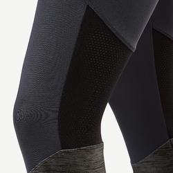 Leggings Synthetik atmungsaktiv S500 Gym Kinder grau