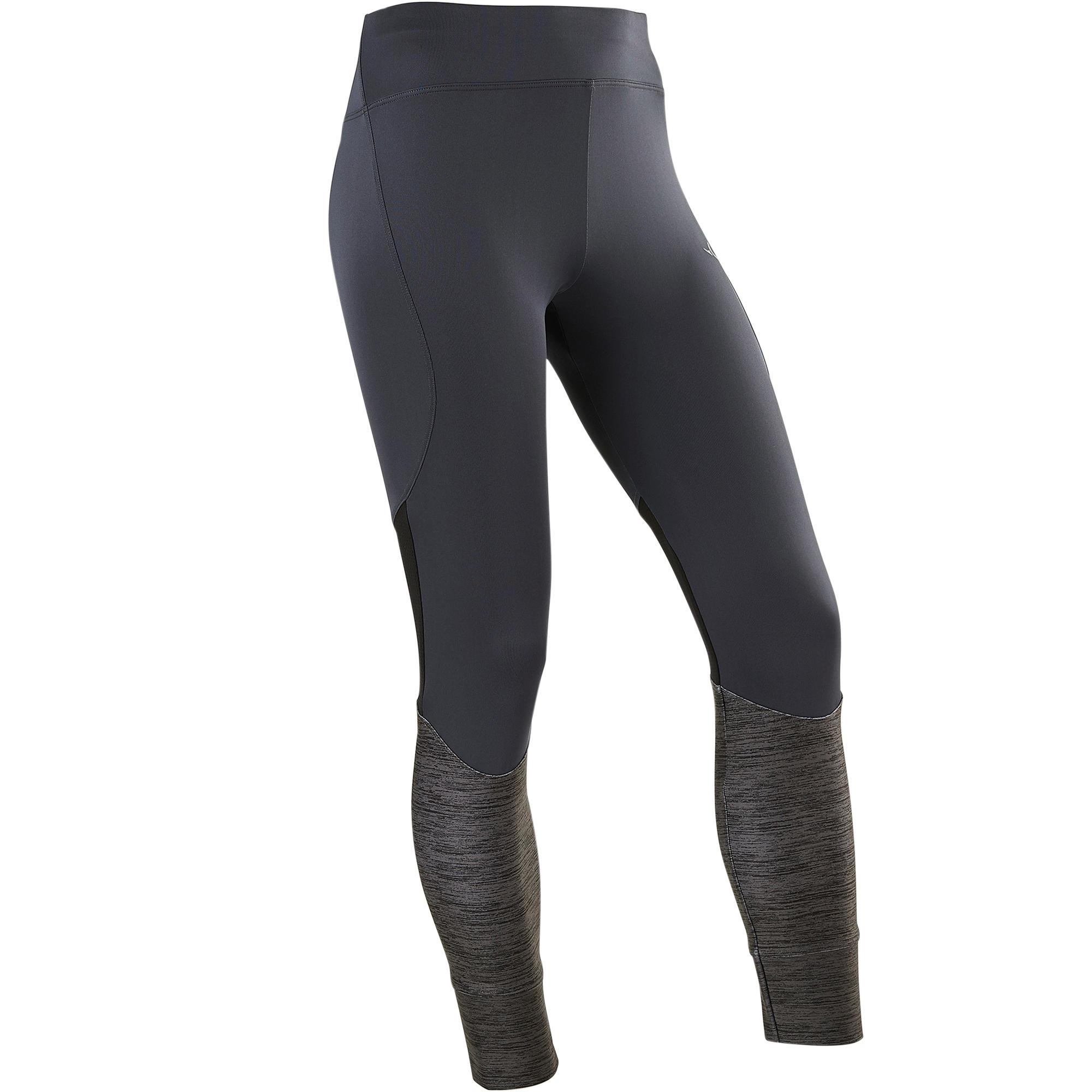 Leggings sintéticos transpirables S500 niña GIMNASIA JÚNIOR gris