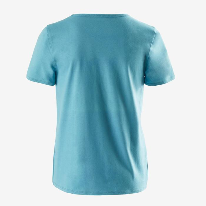 T-shirt manches courtes 100 garçon GYM ENFANT bleu ciel imprimé bleu