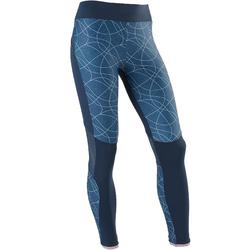S900 Girls' Breathable Gym Leggings - Blue/Mottled Purple