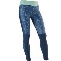Ademende legging S900 meisjes GYM KINDEREN blauw AOP
