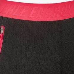 Warme ademende broek slim fit S900 meisjes GYM KINDEREN gemêleerd grijs