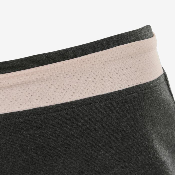 Short coton respirant 500 fille GYM ENFANT gris imprimé