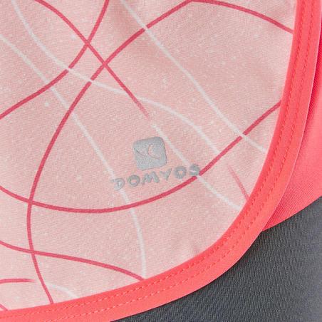 Celana Pendek Senam Menyerap Keringat Anak Perempuan W900 - Pink Bergambar