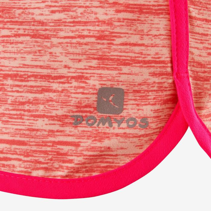 Short respirant W500 fille GYM ENFANT rose imprimé