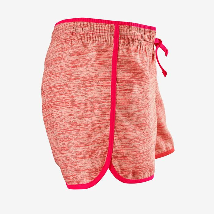 Short respirant W500 fille GYM ENFANT rose AOP