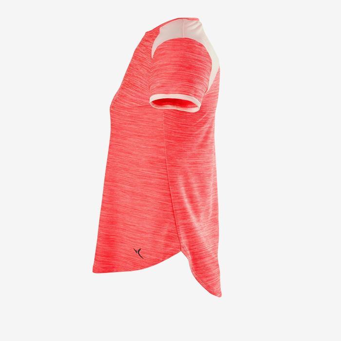 Gymshirt meisjes korte mouwen S500 roze