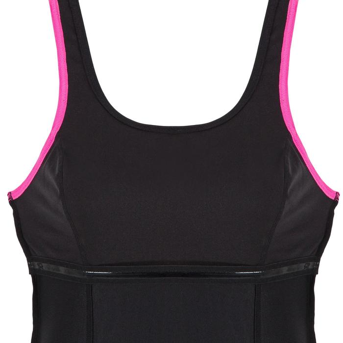 Badpak voor aquagym Mika zwart/roze