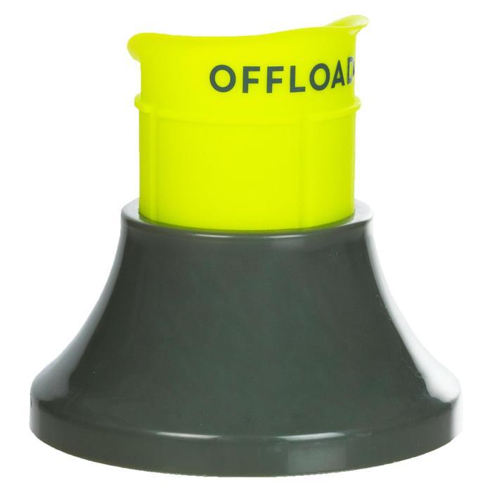 Tee de rugby ajustable R500 kaki jaune