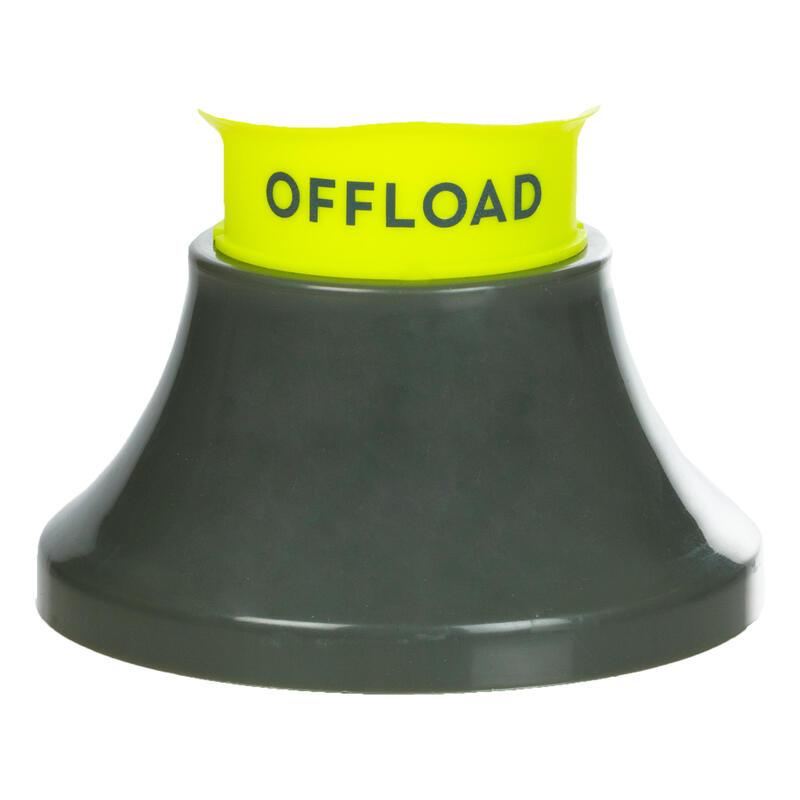 Tee De Rugby Offload R500 Ajustable Caqui y Amarillo