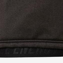Veste capuche chaude, respirante S900 fille GYM ENFANT gris chiné foncé