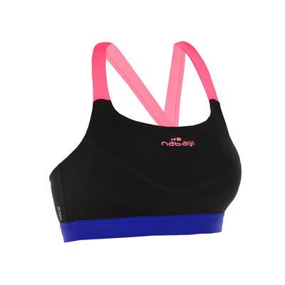 Top de bikini de Aquafitness para mujer Anna negro rosado