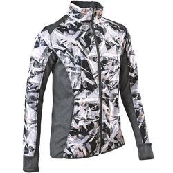 S900 Girls' Warm Breathable Gym Jacket - Grey