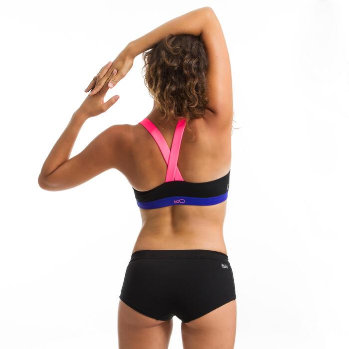 Top de bikini de Aquafitness para mujer Anna negro rosa